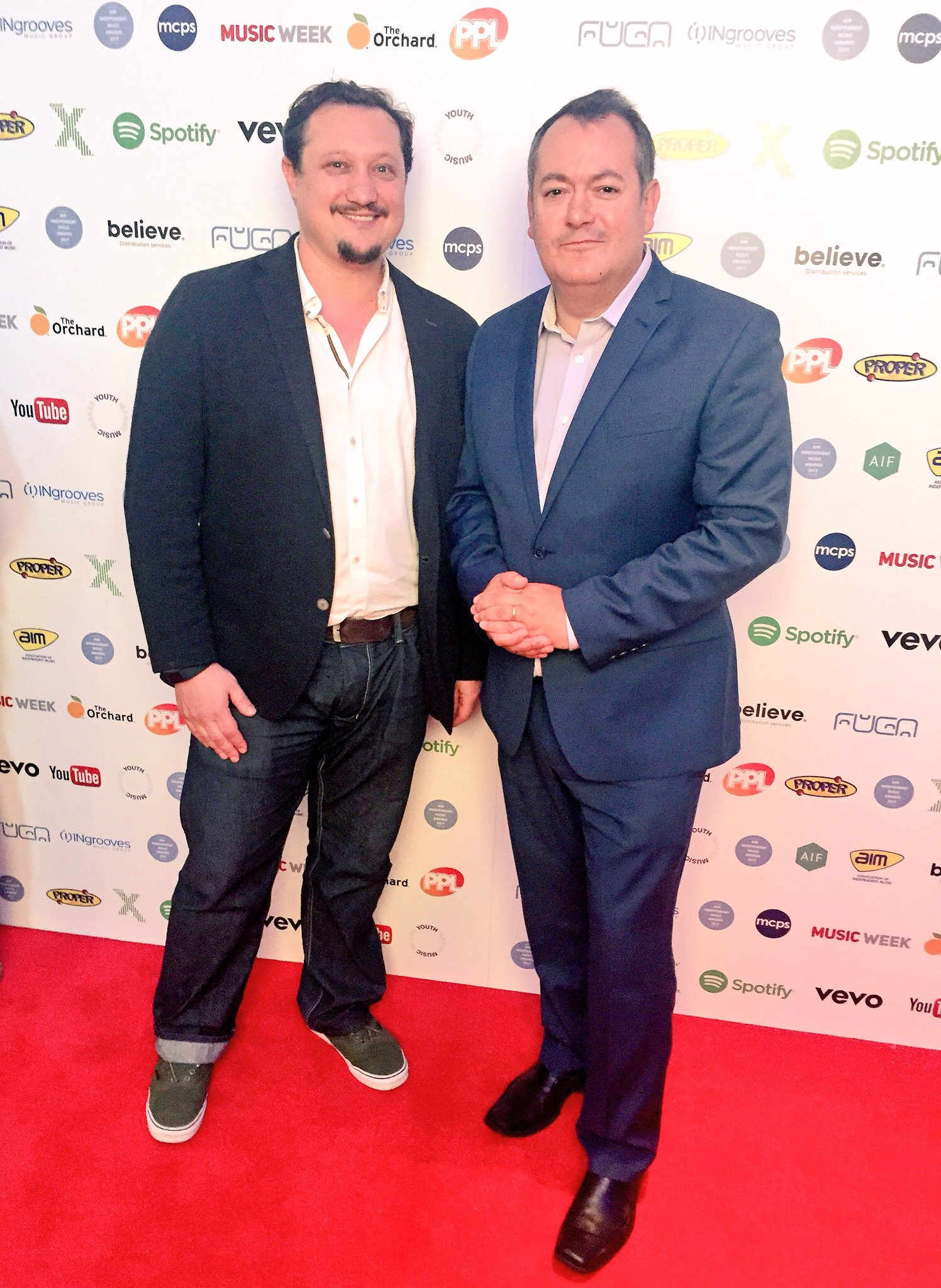 AIM CEO Paul Pacifico with UK Music CEO Michael Dugher