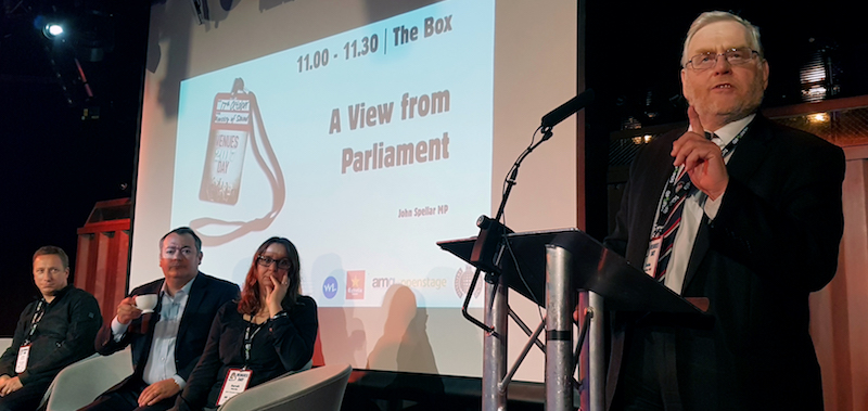 Image: John Spellar MP speaking at Venues Day 2017
